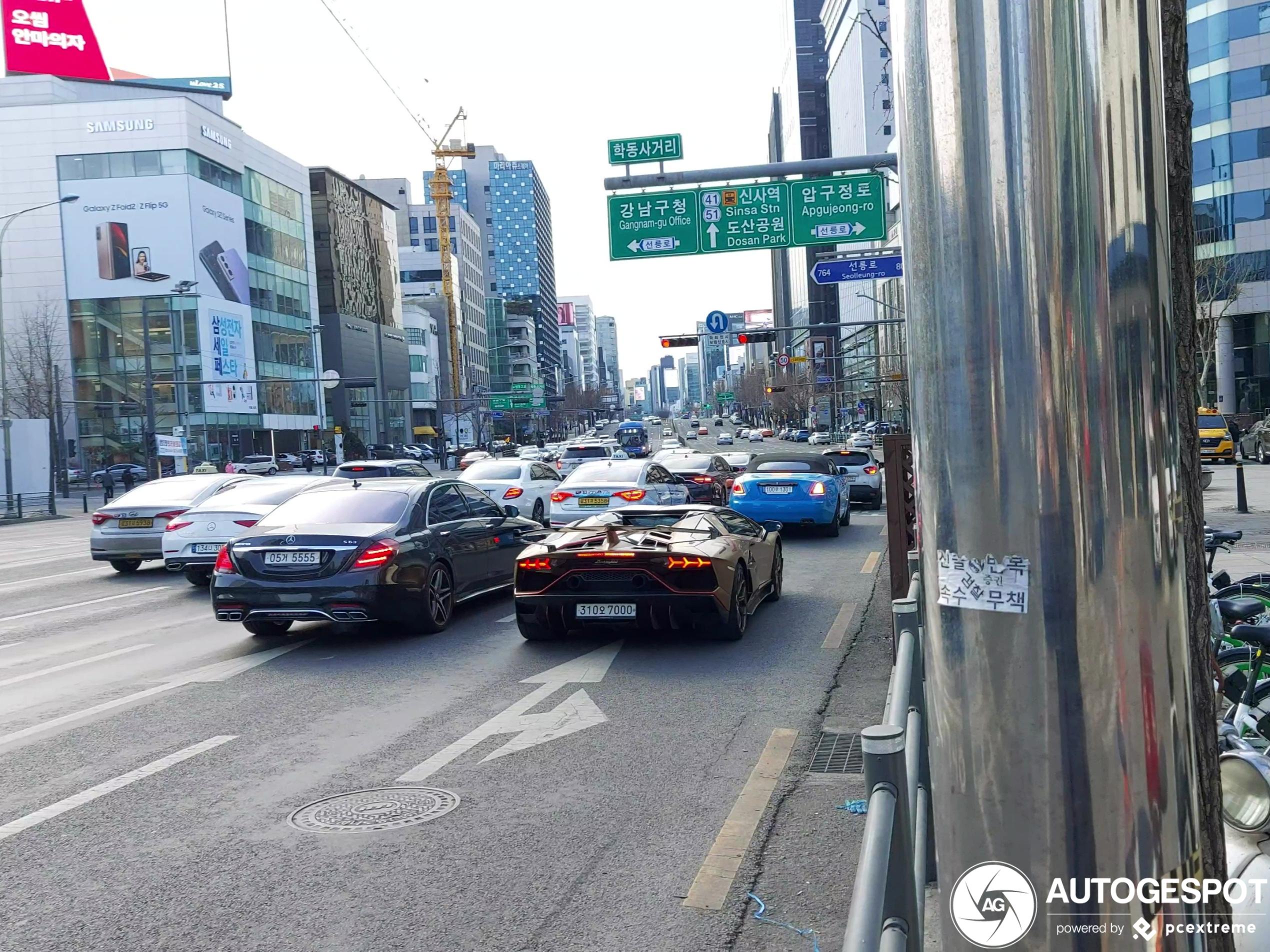 Combo voor het verkeerslicht in Seoul gespot