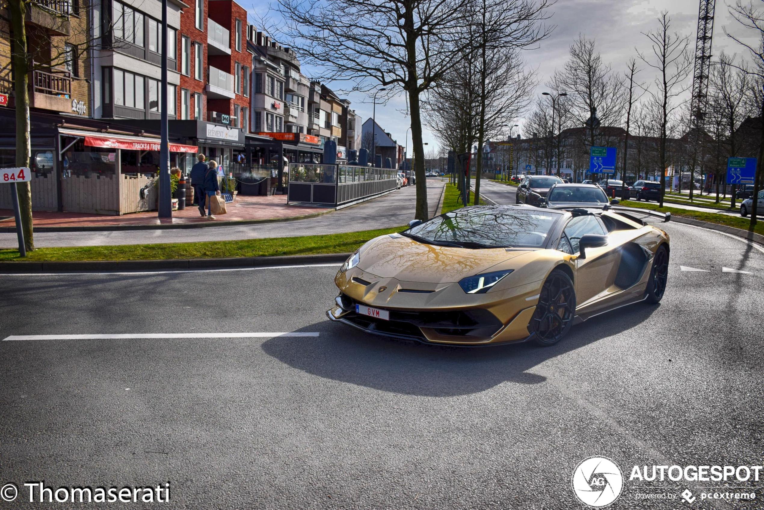 Lamborghini Aventador LP770-4 SVJ Roadster pakt volle aandacht in Knokke-Heist