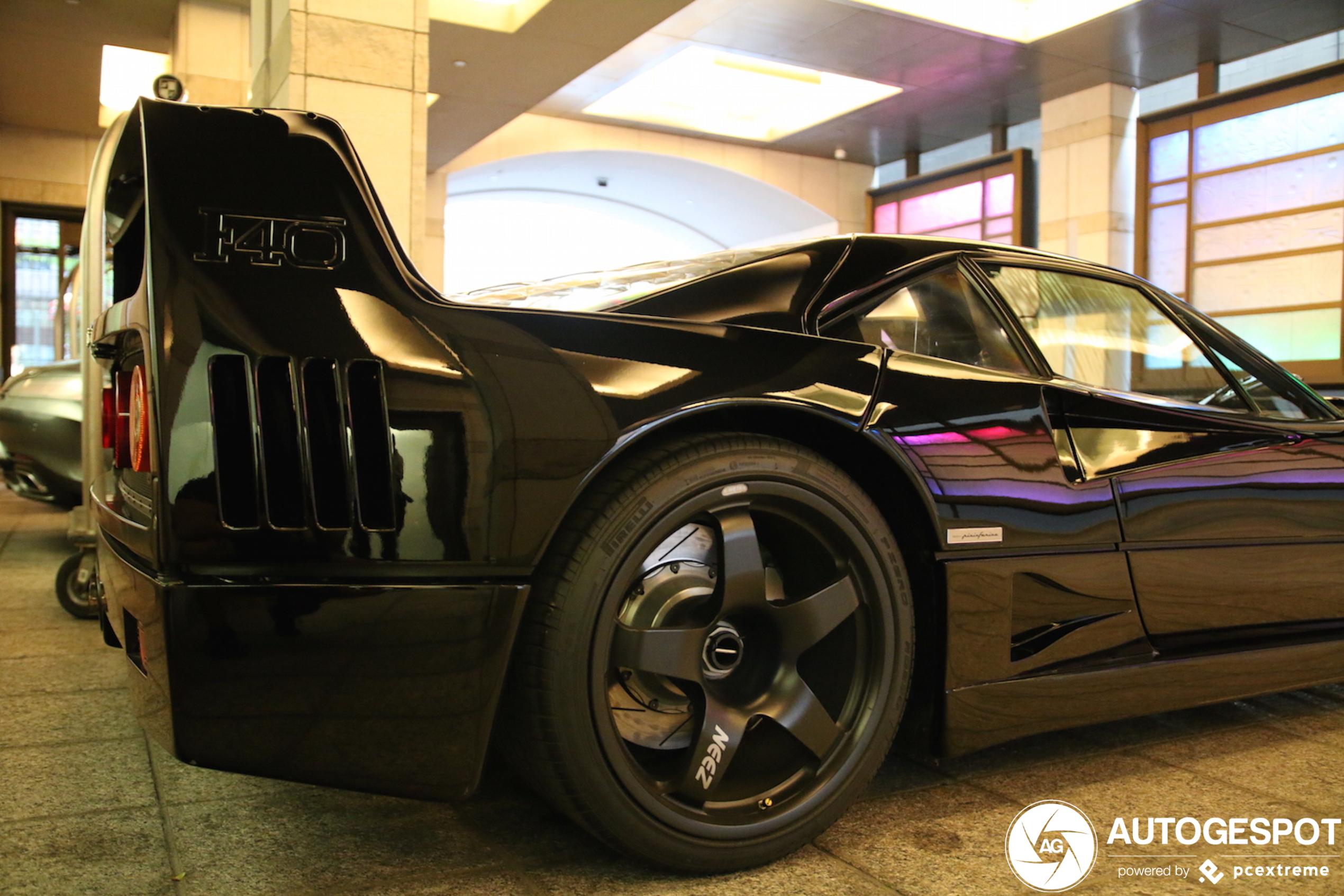 Zwarte Ferrari F40 is een parel uit Japan