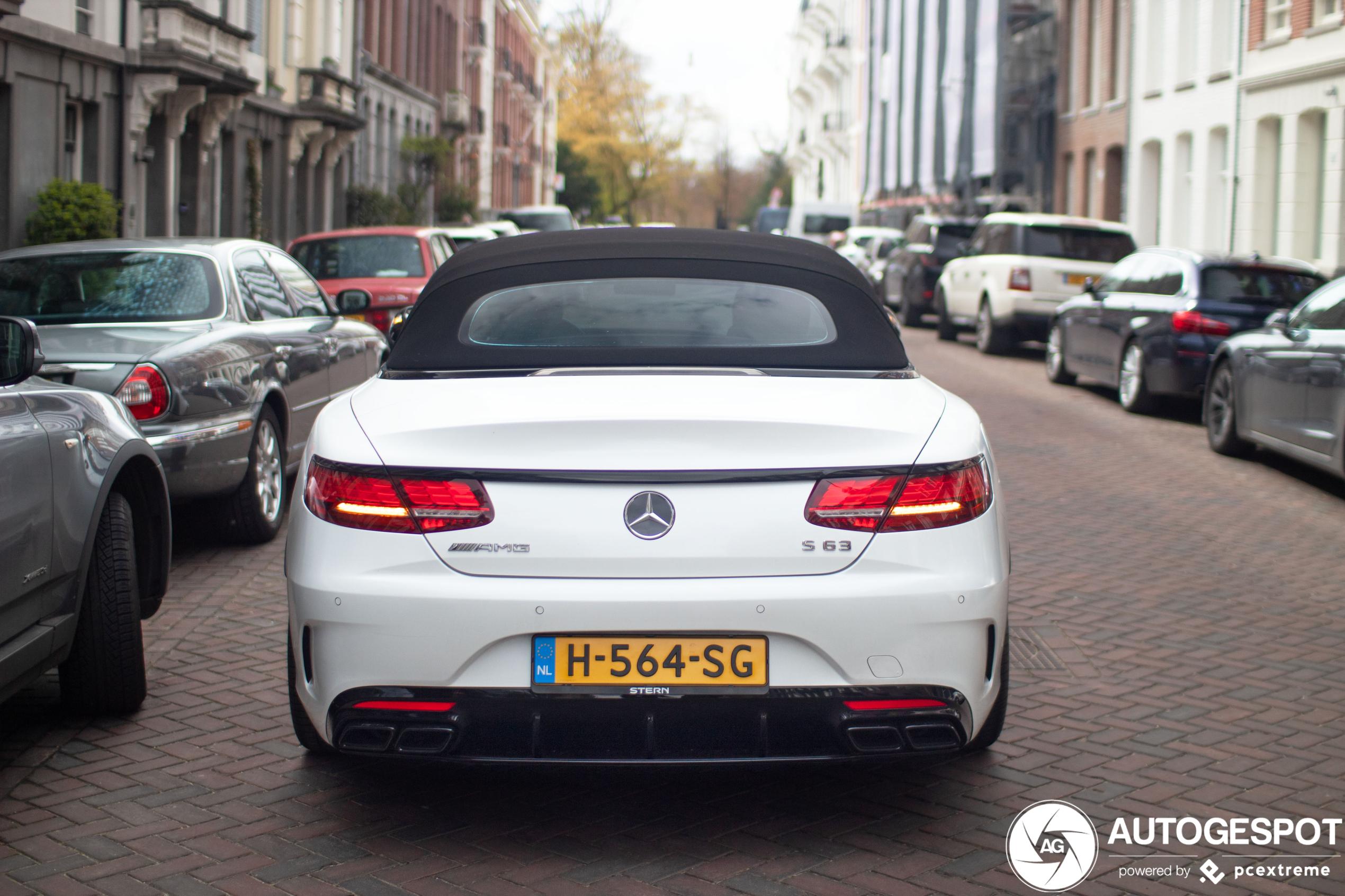 Mercedes-AMG S 63 Convertible A217 2018