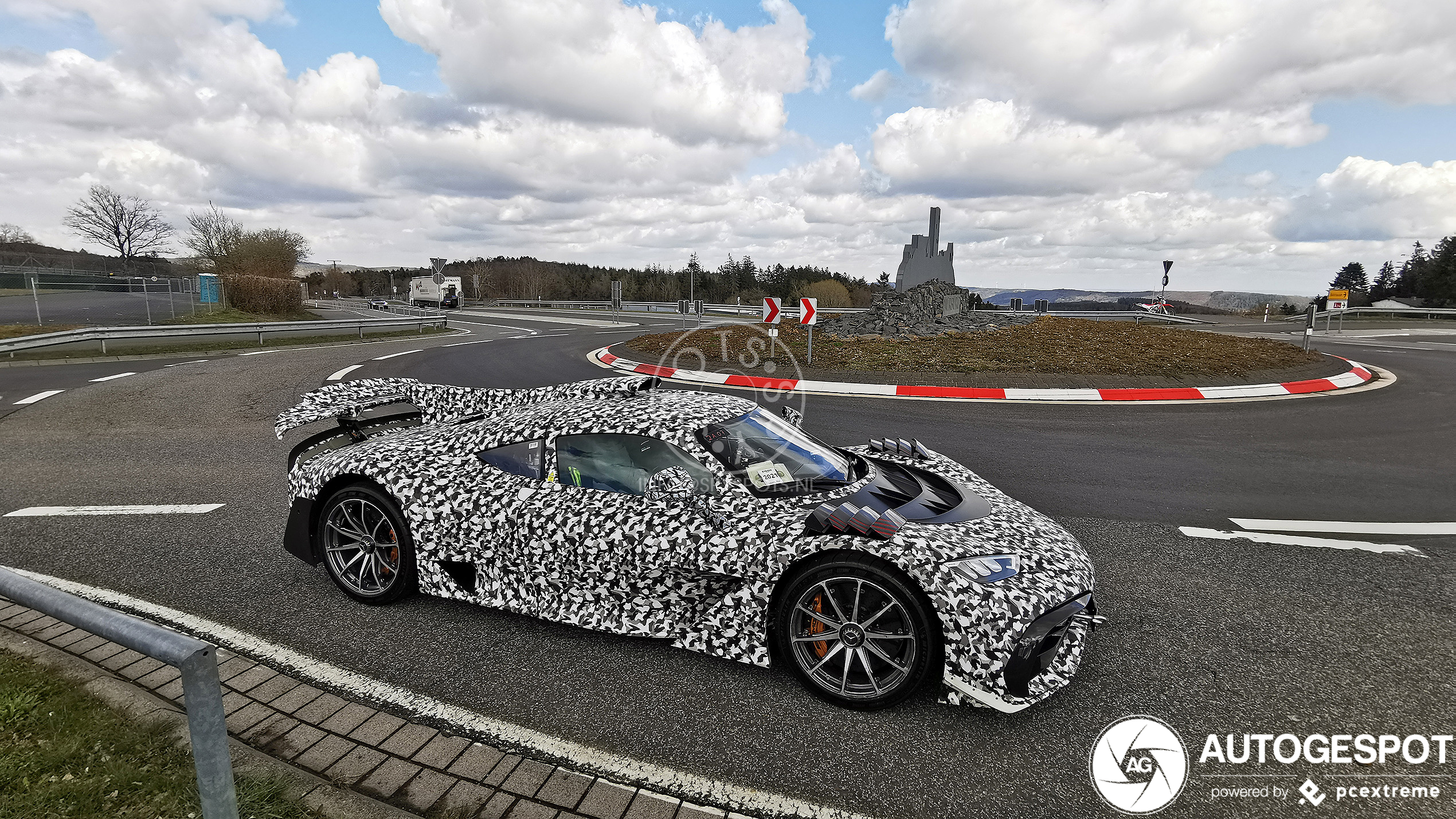 Mercedes-AMG Project One shows up at the Nürburgring