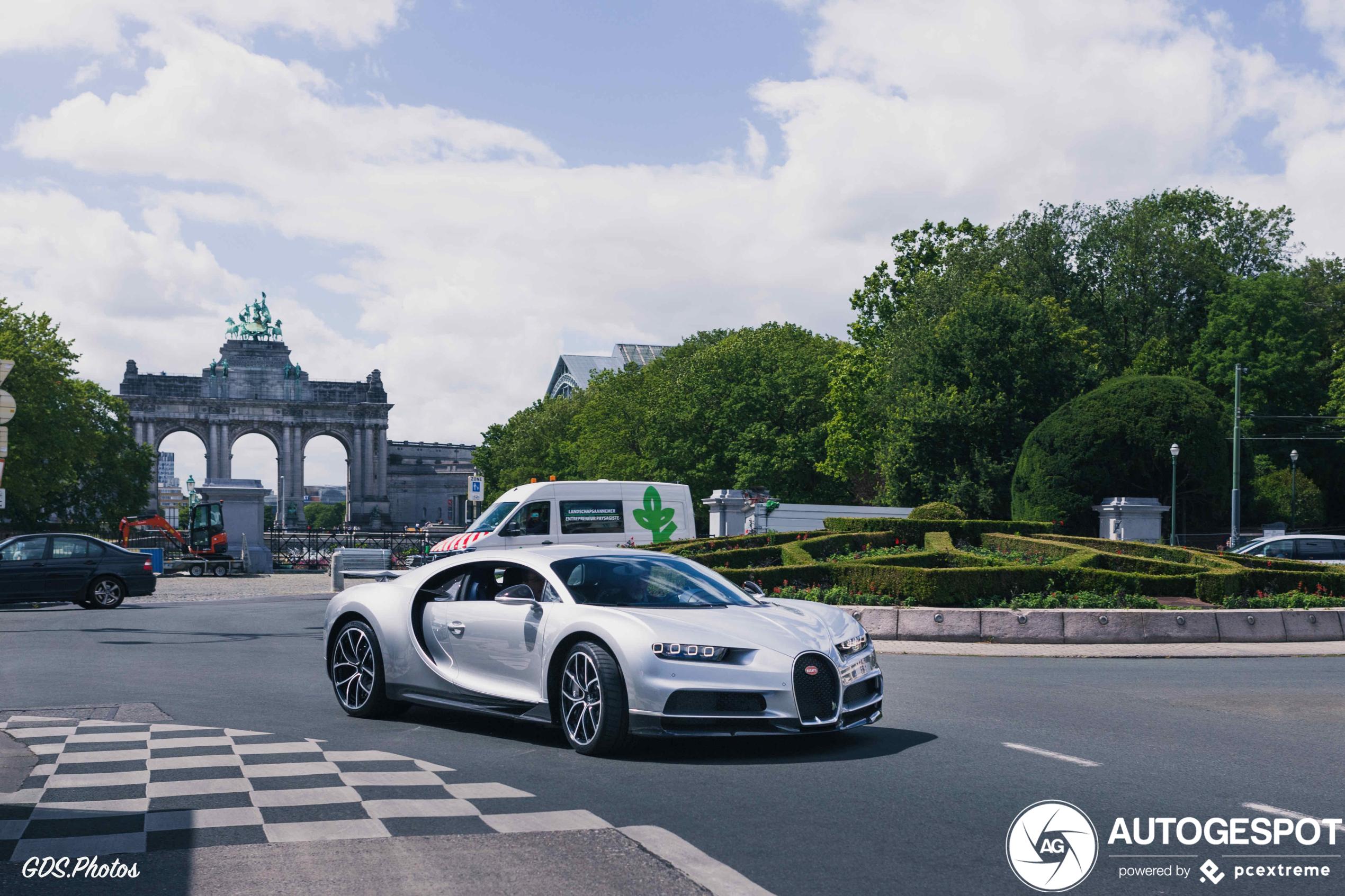 Bugatti Chiron rolt door Brussel