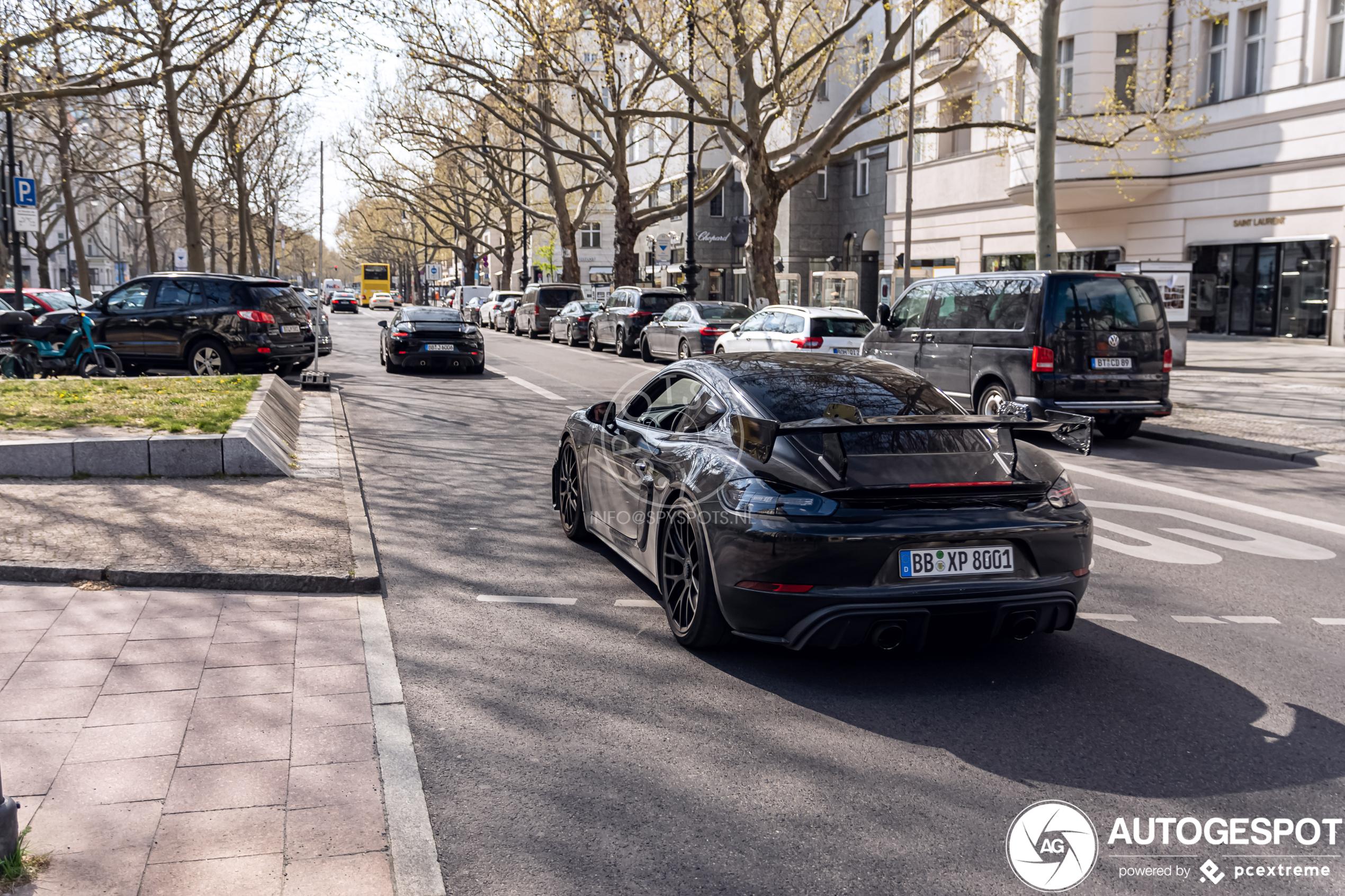 Porsche gebruikt Berlijn als testlocatie voor Cayman GT4 RS