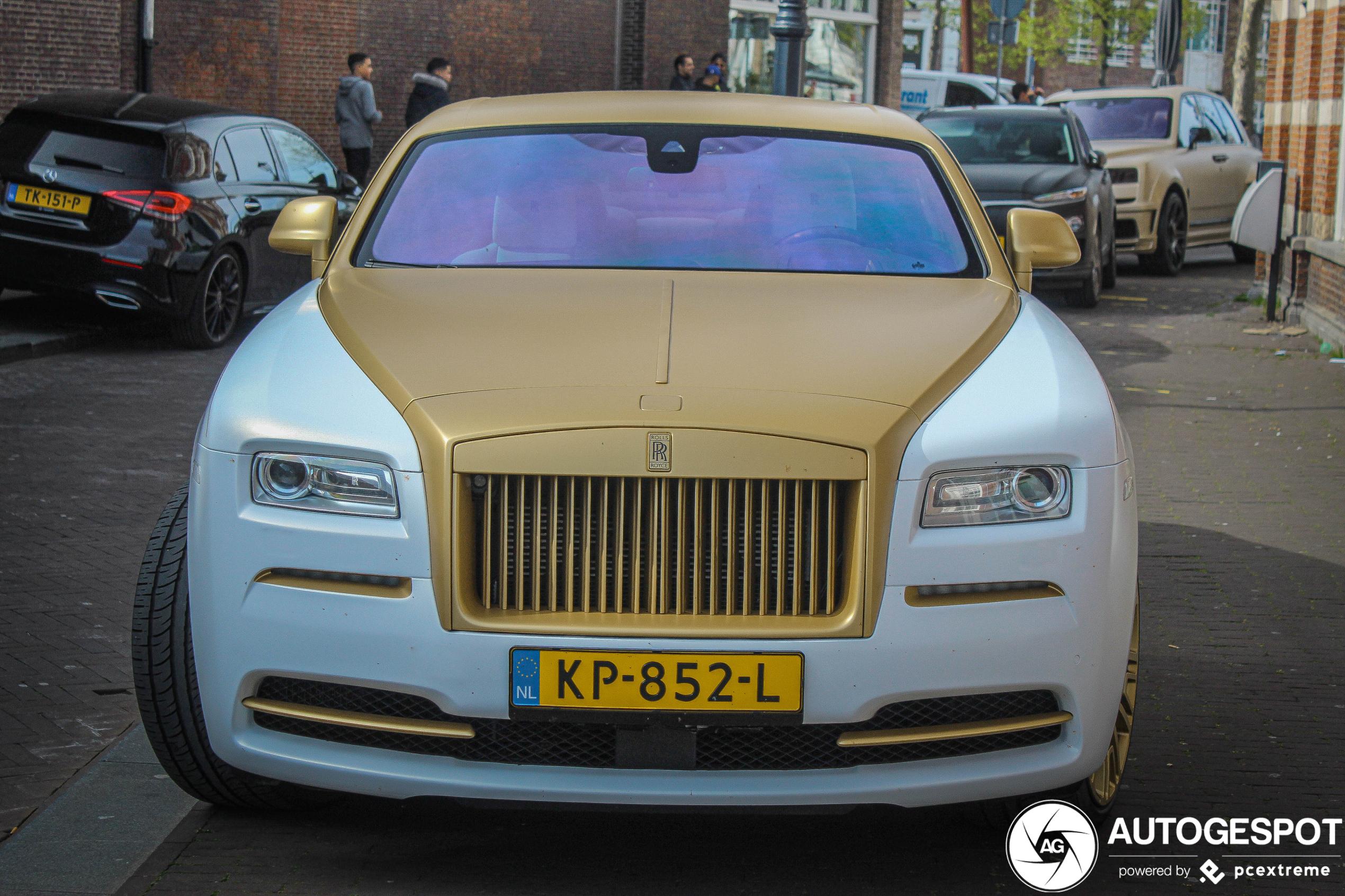 Rolls-Royce Wraith heeft het zwaar in handen van Joey Bravo