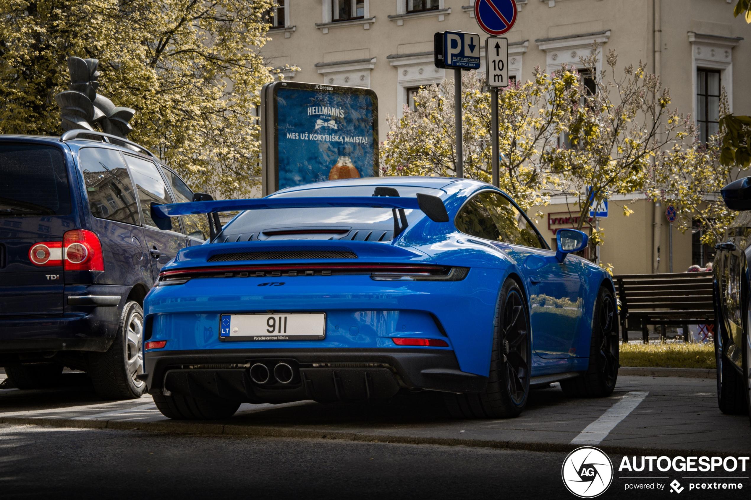 Weer een nieuwe Porsche 992 GT3 gespot