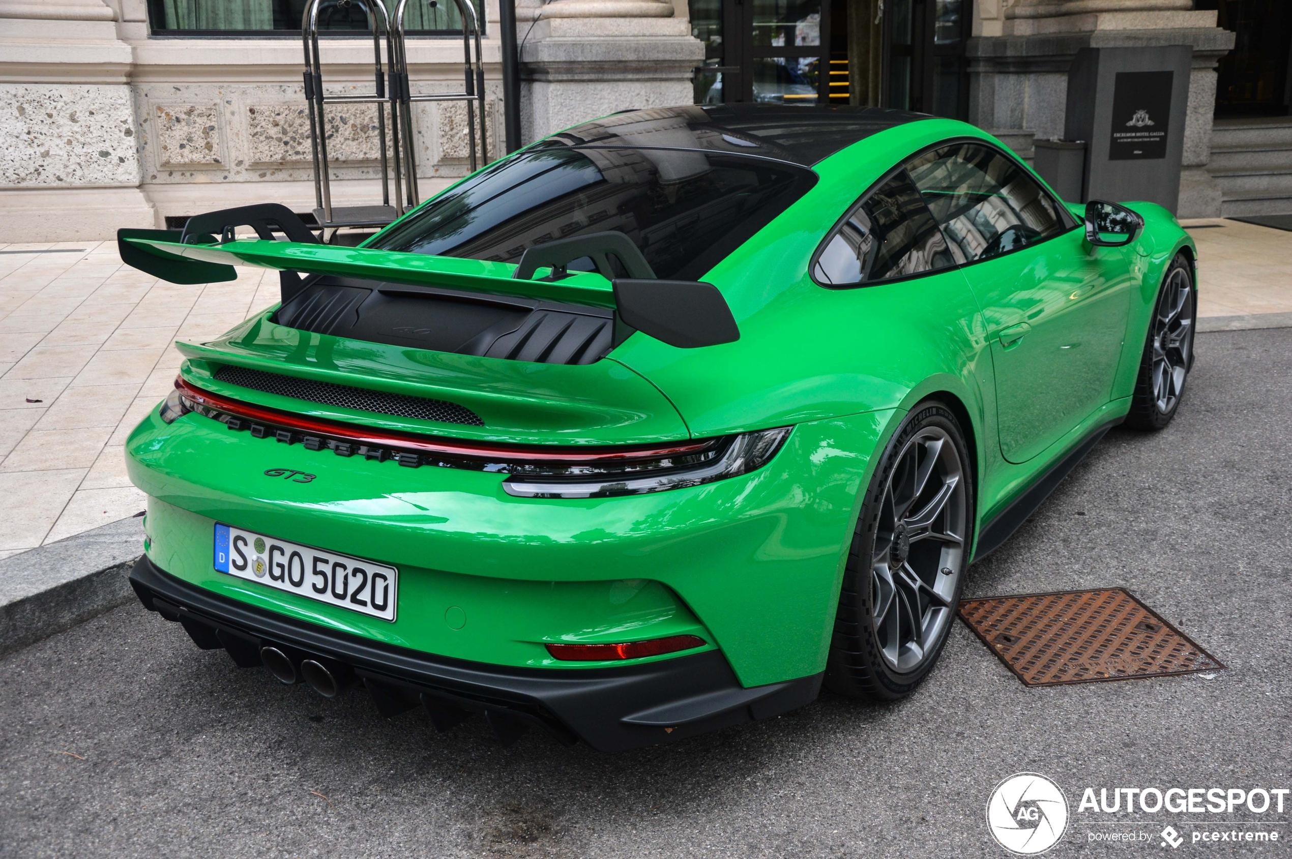 We've never seen the Porsche 992 GT3 in Python green before