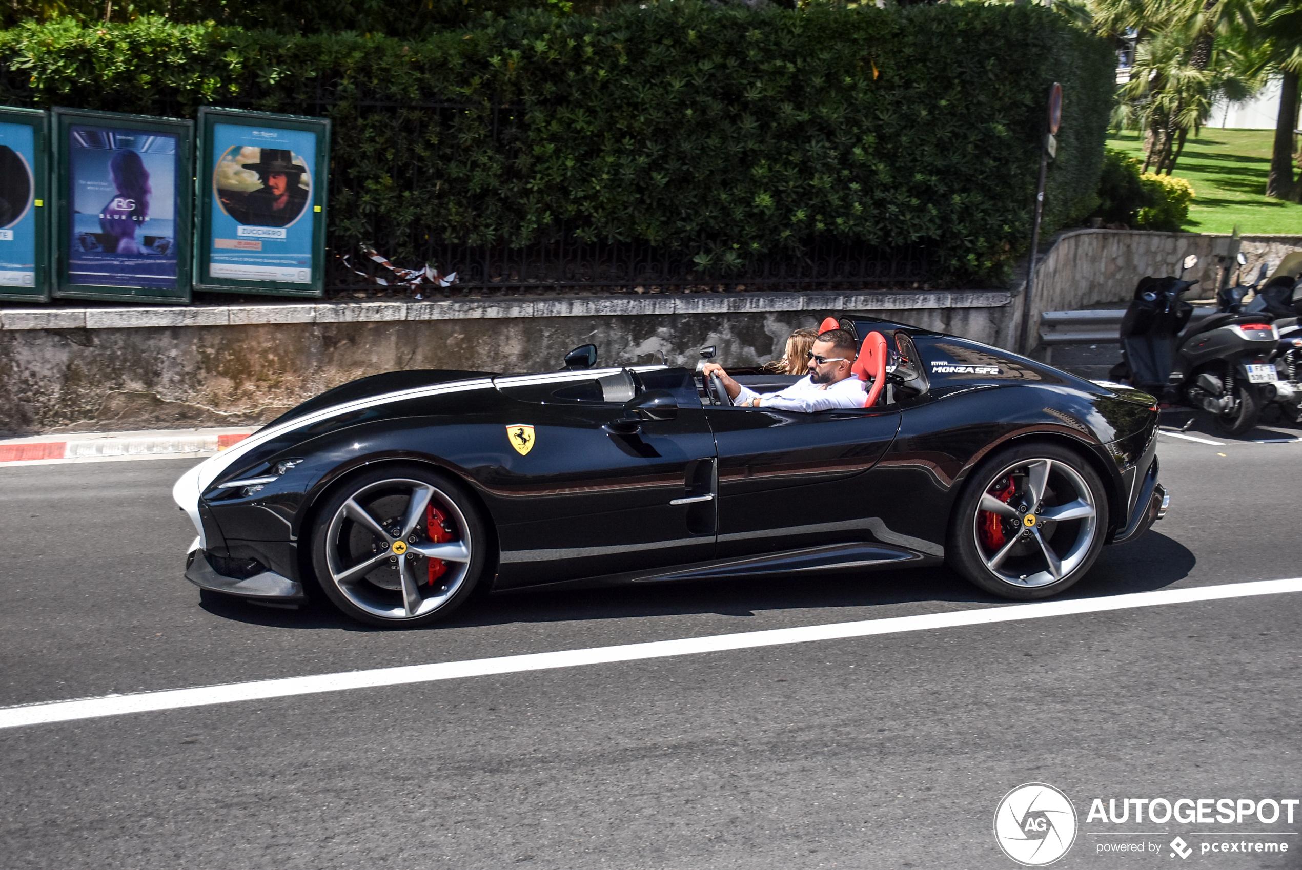 First Arabs spotted in Monaco: Ferrari Monza SP2