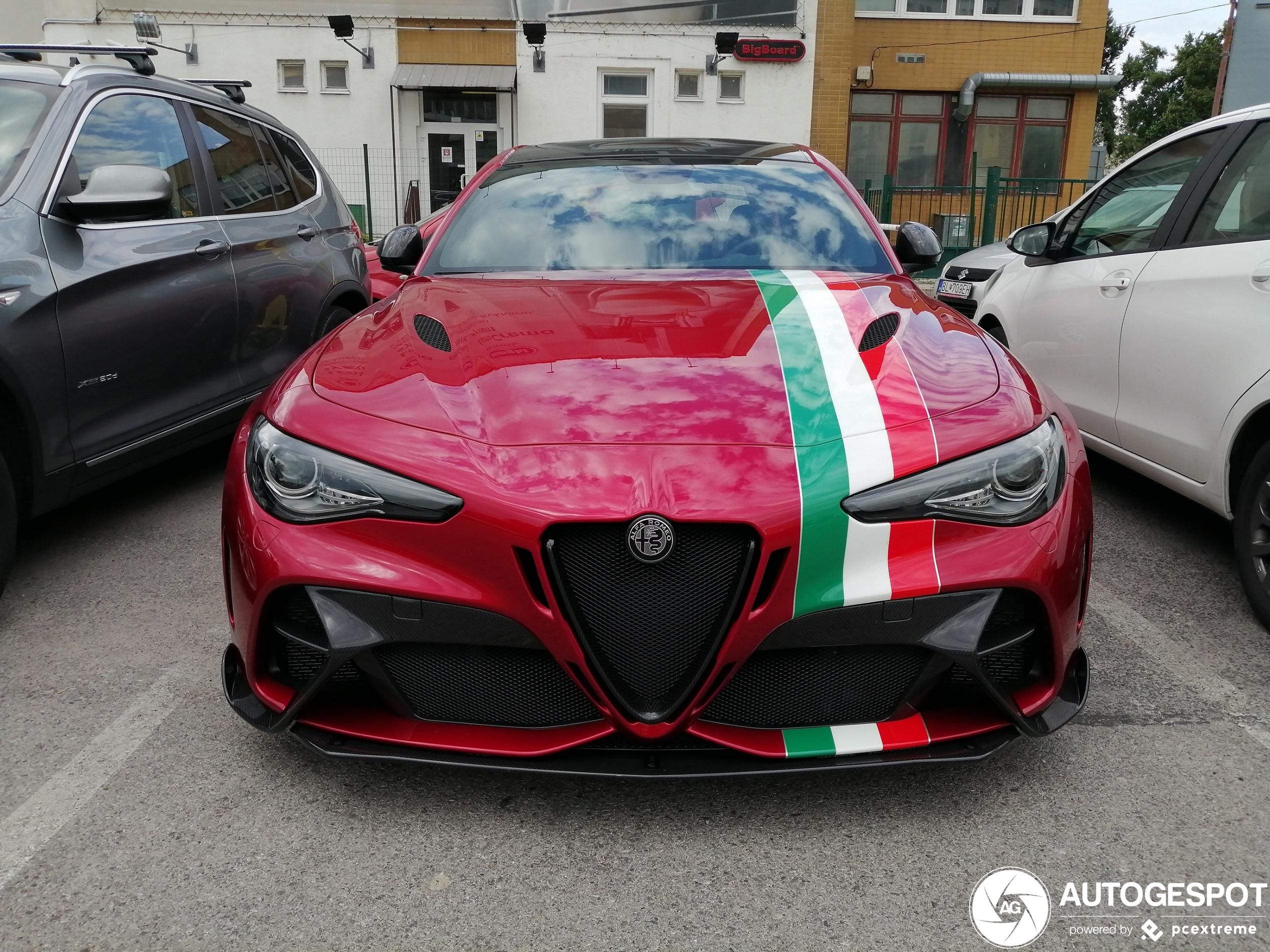 Alfa Romeo Giulia GTAm is een showstopper
