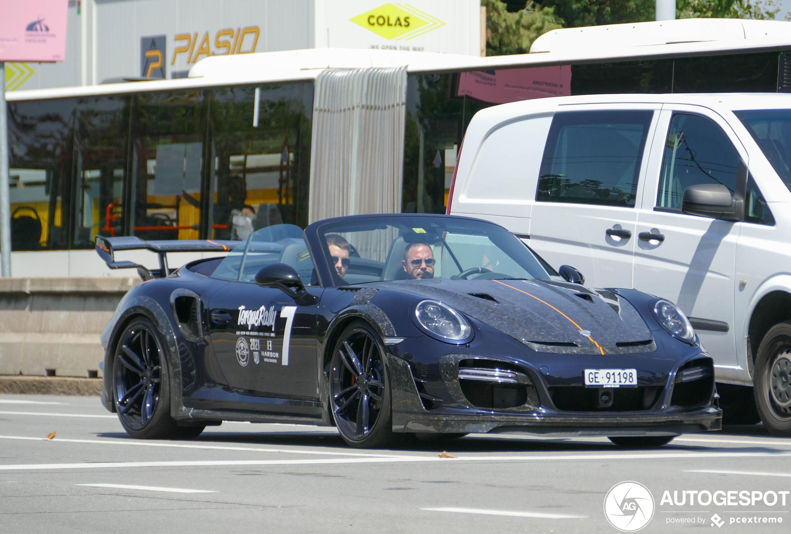 Porsche 991 Techart GT Street RS Cabriolet laat spierballen zien in Genève