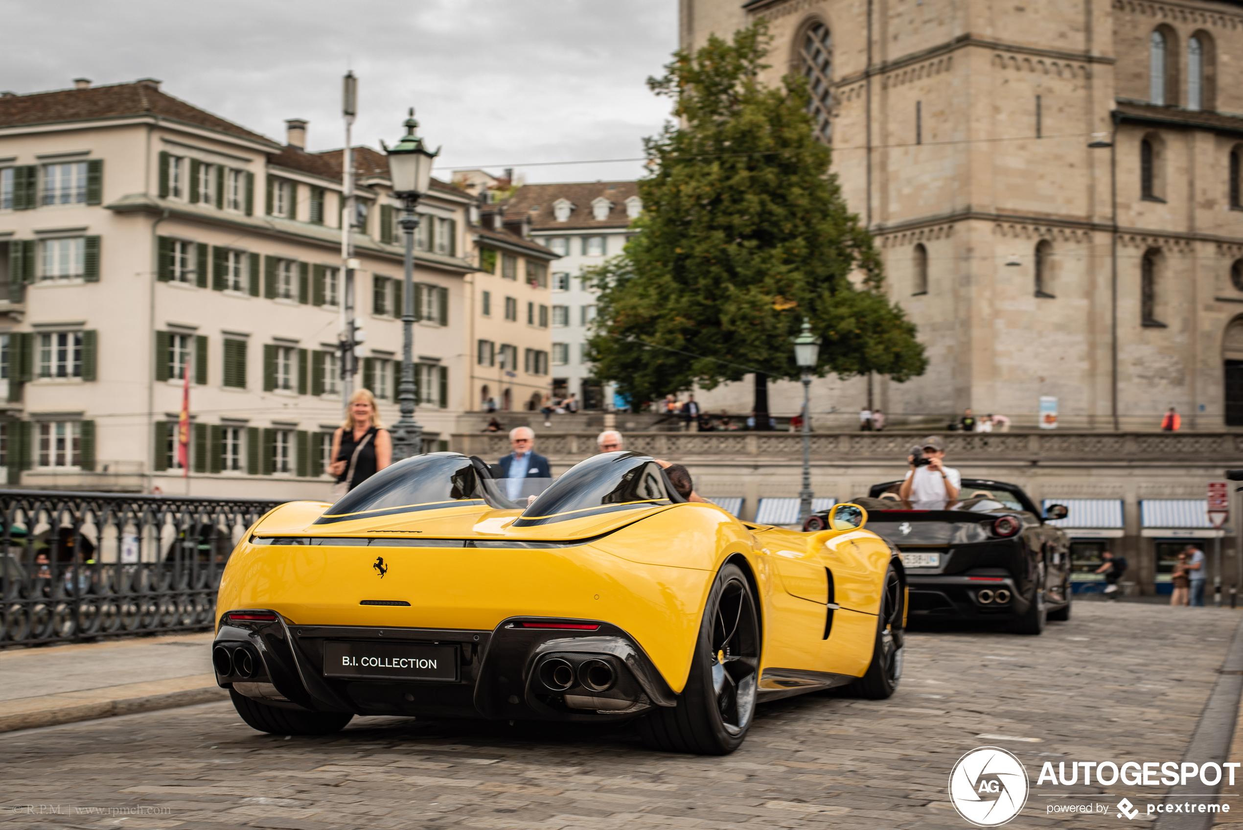 Supercarblondie rijdt Ferrari Monza SP2 in Zürich