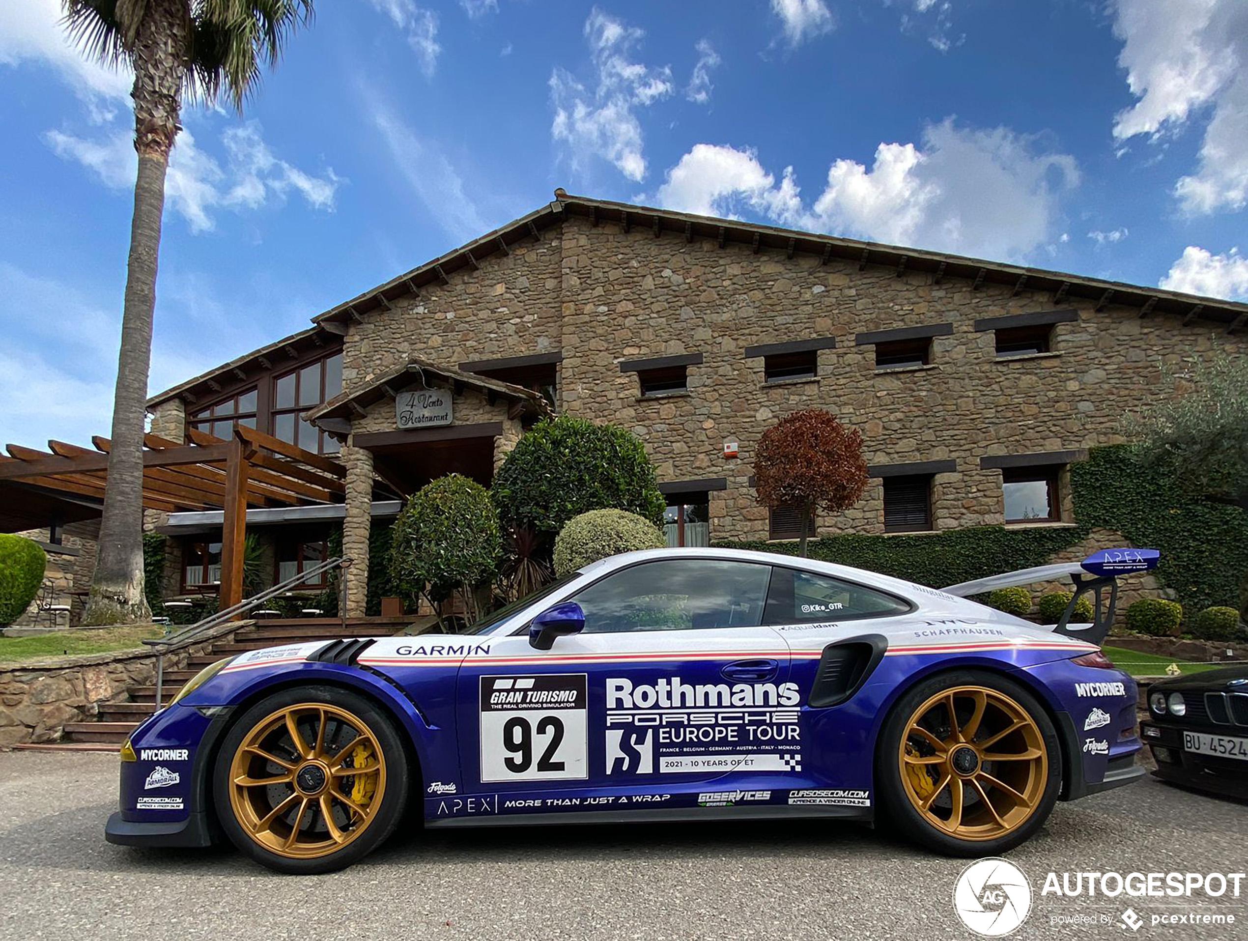 Rothmans livery op Porsche 991 GT3 RS is het helemaal