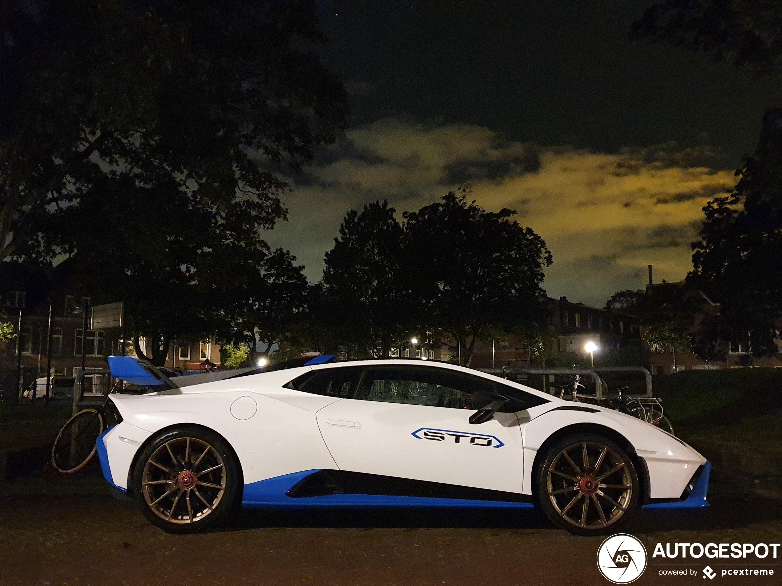 Deze Lamborghini Huracán LP640-2 STO verblijft tijdelijk in Nederland